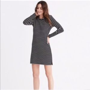 MADEWELL Striped Black White Knee Length Dress